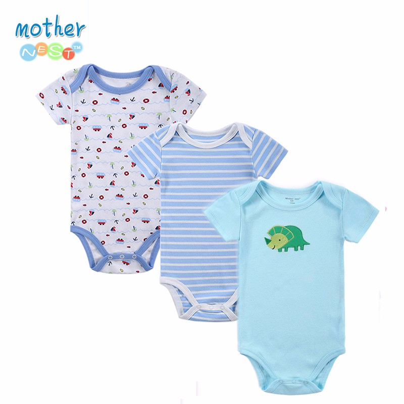 NEW Arrival 2016 Summer Short Sleeved Baby Romper Colorful Infant Rompers Boys and Girls Romper Kids Jumpsuits Baby Clothing