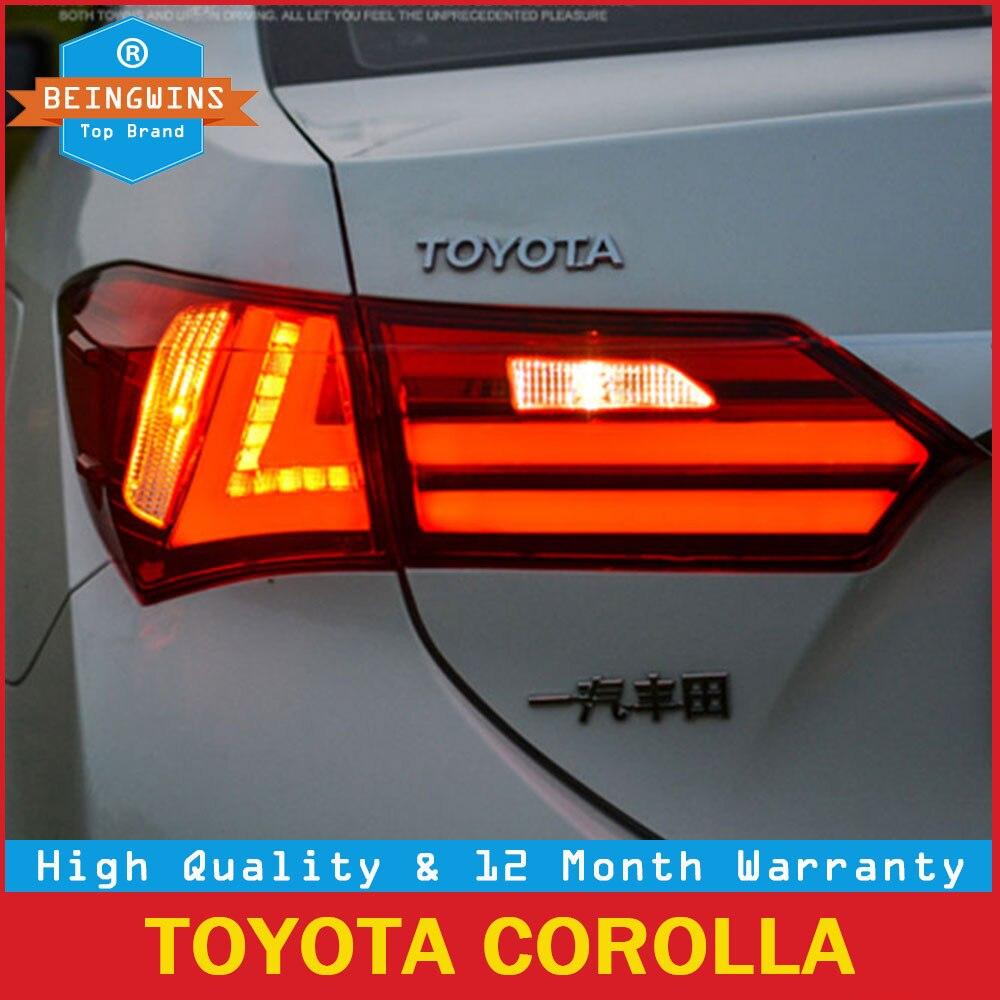 BEINGWINS Автомобиль Стайлинг для Toyota Corolla фонарь 2014 2015 2016 2017 светодиодный фонарь задний фонарь стояночный тормоз указатели поворота