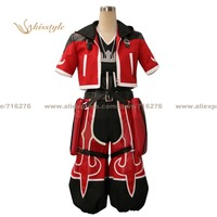 Kisstyle Fashion Kingdom Hearts Sora Red Uniform COS Clothing Cosplay Costume,Customized Accepted