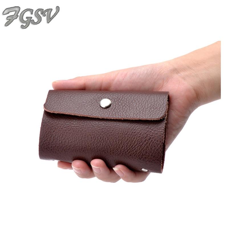 FGSV High quality split leather hasp big capacity 23 cards ID card ...