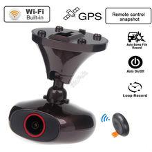 El envío gratuito! DDPAI M6 Plus full HD 1440 P WIFI Cámara Tablero de Coches Grabador de Vídeo GPS Instantánea Remoto DVR H.264 G-sensor sensor