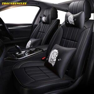 Image 4 - Neue luxus Leder auto sitz abdeckung für mitsubishi pajero 4 sport outlander 3 xl lancer 9 10 grandis ASX colt l200 auto zubehör