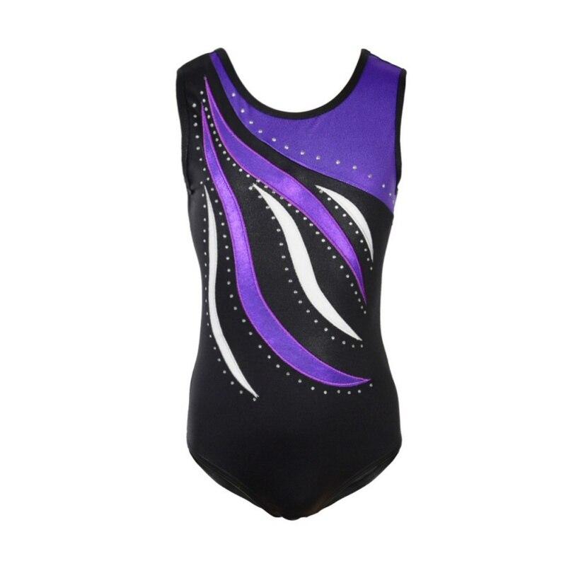 Hot Selling Leotards Gymnastics Acrobatics Girls' One-Piece Sleeveless Ballet Swim Athletic Dance Dress Kids Dance Wear New