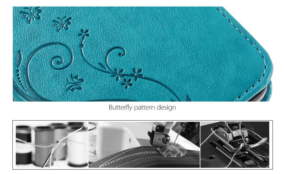 Dla microsoft nokia lumia 640 lumia 630 lumia 550 worek nadrukowane butterfly pu wizytownik skórzany telefon okładka case shell 7