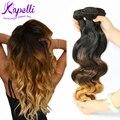 Brasileiro virgem cabelo corpo Wave 3 Bundles extensões de cabelo Ombre 3 tom 1b / 4 / 27 onda do corpo brasileiro não transformados cabelo humano Weave