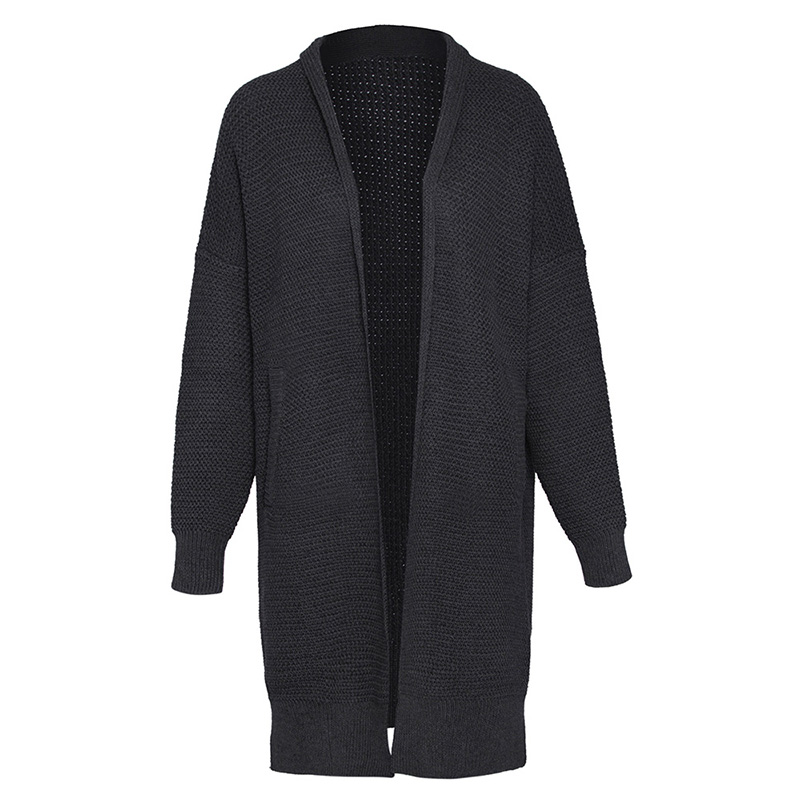 Woman Casual Cardigan Sweater 2018 Spring Solid Black