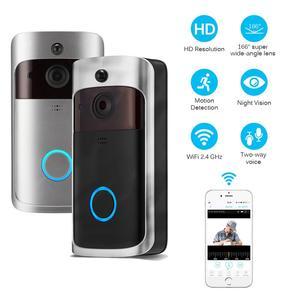 Image 2 - Smart IP wideodomofon bezprzewodowy dostęp do internetu wideo telefon drzwi dzwonek do drzwi wizjer wbudowaną kamerą WI FI do mieszkania IR alarmu bezprzewodowa kamera do monitoringu