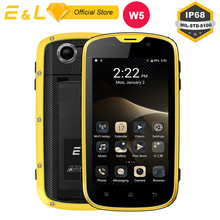 E L W5 Mobile Phone Android Original Phones Waterproof Shockproof Phone Quad Core Touch Phone Smartphone
