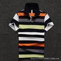 Men Polo Shirt 2016 New Men's Short Sleeve Polo Shirt Yellow Stripe Cotton Polo Homme Shirt D1646