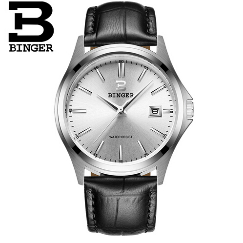 Fashion Brand Binger Series Men Watch Geneva Quartz Watches Casual Luxury Man Sport Dress Business Wristwatch Gift Sales