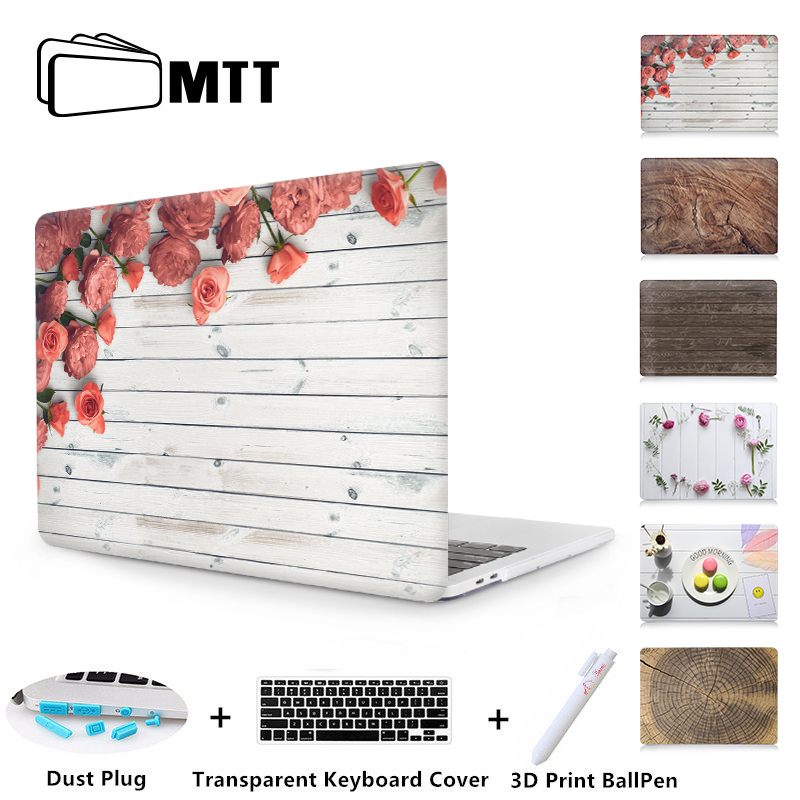 MTT Wood Grain Case For Macbook Air Pro 11 12 13 15 inch Plastic Hard Cover for macbook Pro Retina 13.3 Touch Bar Laptop CaseMTT Wood Grain Case For Macbook Air Pro 11 12 13 15 inch Plastic Hard Cover for macbook Pro Retina 13.3 Touch Bar Laptop Case