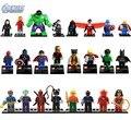 Marvel Super Heroes Figuras 24 Unids/lote Los Vengadores Building Blocks Establece Juguetes Clásicos Ladrillos Compatible Con