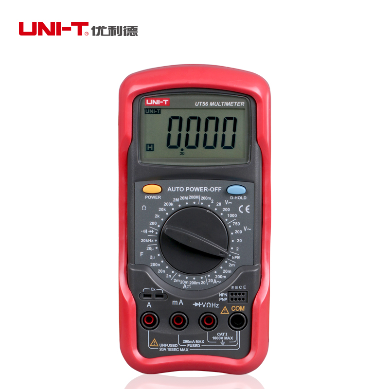 UNI-T UT56  Digital Multimeter Portable Voltmeter Tester Meter  AC/DC frequency multimeter Ammeter Multitester