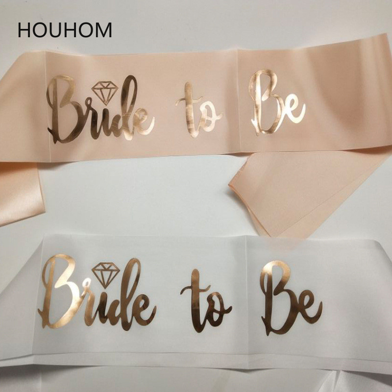 Hen Party Sash Satin Team Bride To Be Balloons Bridal Shower Bachelorette Party Sash Banner Wedding Event Decorations Supplies
