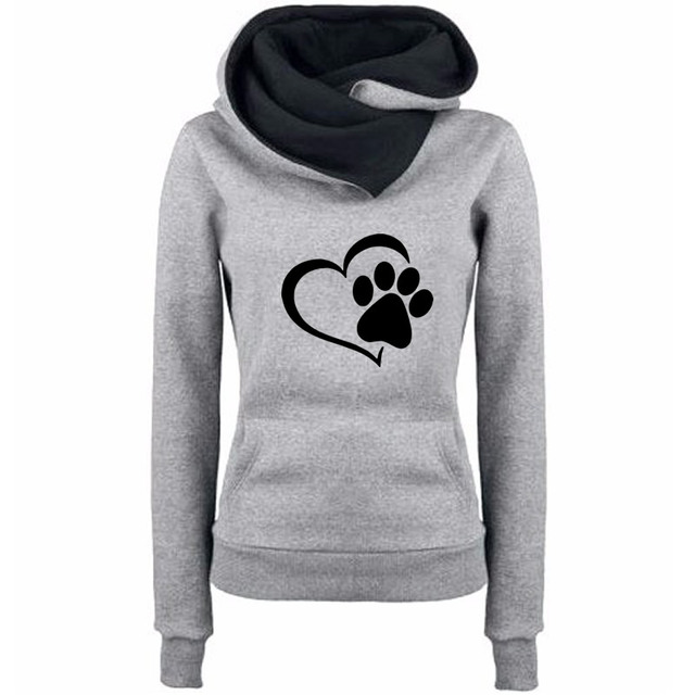 Women's Cat Paw Printed Sweatshirt