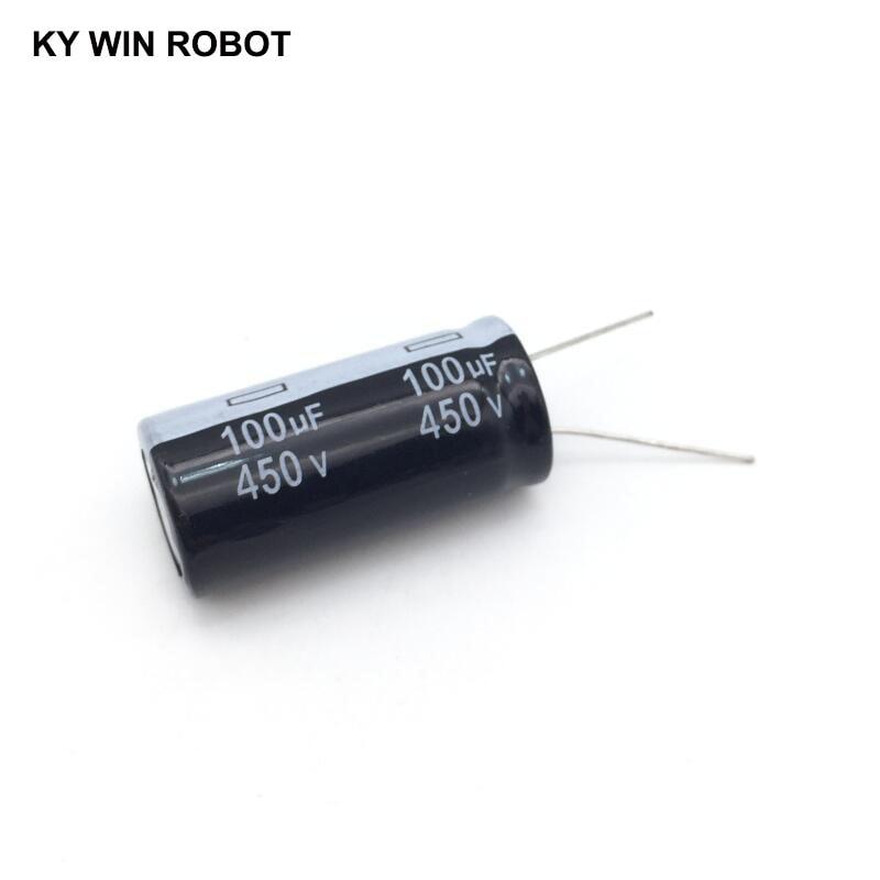 Алюминиевый электролитический конденсатор 450 в/100 мкФ 450 в/100 мкФ электролитический конденсатор размером 18*35 мм плагин 450 в 100 мкФ|Конденсаторы|   | АлиЭкспресс