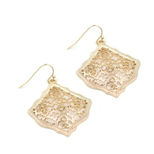 2019 New Small 3D Cute Kite Filigree High Quality Polish Women Dangle Earrings Gold Rose Silver Black Four Classic Color