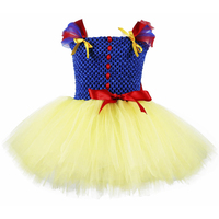 Princess Snow White Birthday Party Tutu Dress Baby Girls Special Occasion Dresses Christmas Baptism Carnival Party