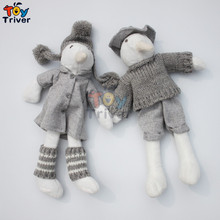 Triver Toy HOT 32cm Penguin Dolls Handmade Knitted Toys Stuffed Doll for Kids Children Friend Korean Japan Style free shipping