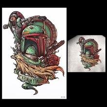 1pcs Temporary Tattoo Paste Paper Geometry Roof Design HB386 Women Men Robot Gun Flower Body Back Art Waterproof Tattoo Stickers