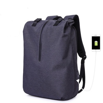 802  New Fashion Men's backpack Leisure bag trend Simple large capacity Computer bag Travel Business Oxford Backpack