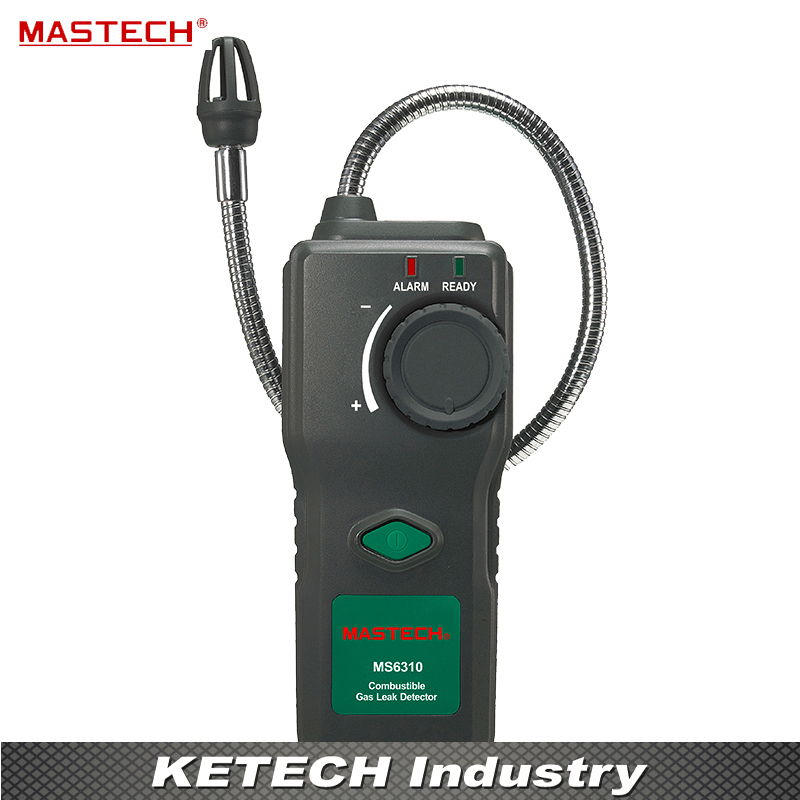 Handheld Combustible Methane Propane Gas Leak Detector Tester Sound Light Alarm MASTECH MS6310 mastech ms6310 portable combustible gas leak detector natural gas propane gas analyzer 50ppm with sound light alarm