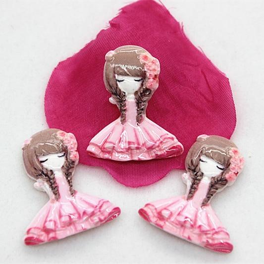 10 шт./лот очень Заколки для волос цветок обувь для девочек плоской задней Кабошон DIY craft Скрапбукинг, 23 * мм 27 мм