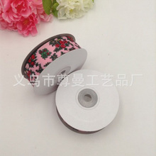 DIY Ribbon Webbing 2.5cm Wide Digital Print Whorl Clothing Shoes Jewelry Gift Box Accessories Small Flower Series
