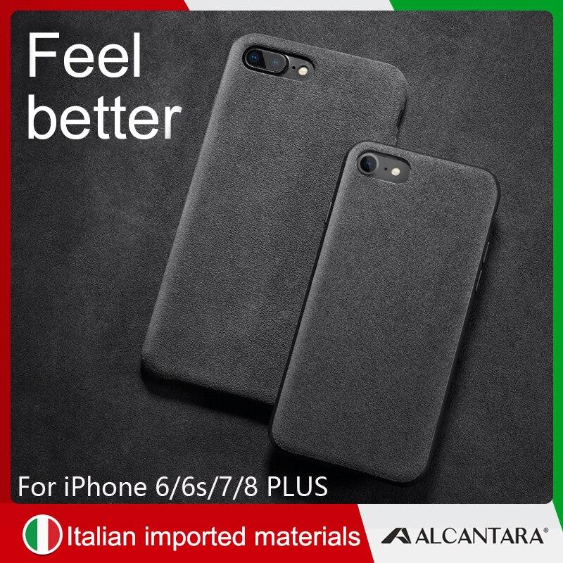 bff0a587d42 SanCore iPhone X XS XR max phone Case Leather cover ALCANTARA fasion ...