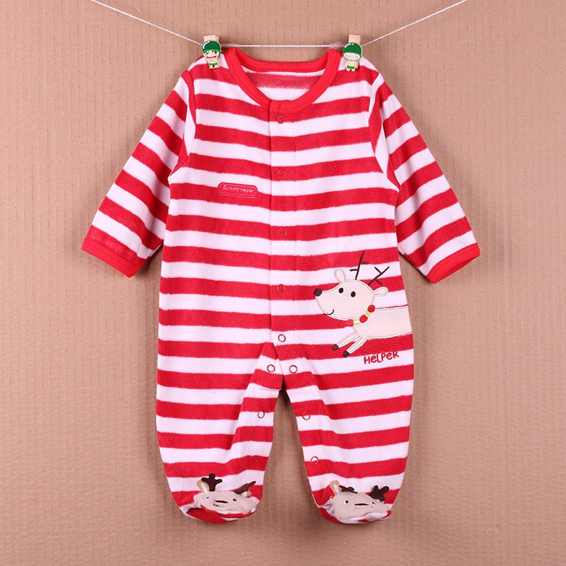 New Arrival Baby Footies Boys&Girls Jumpsuits Spring Autumn Clothes Warm Cotton Baby Footies Fleece Baby Clothing Free Shipping (25)