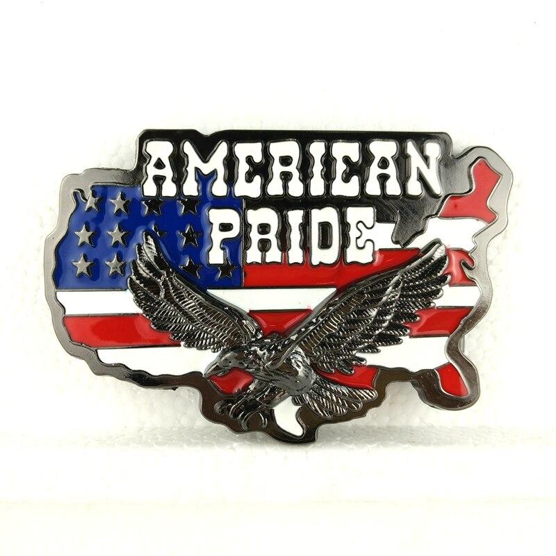 5 pcs wholesale Big Buckles United States Map Flag American pride Eagle Belt buckle Custom Zinc Alloy Metal Buckle BK020 / BK097