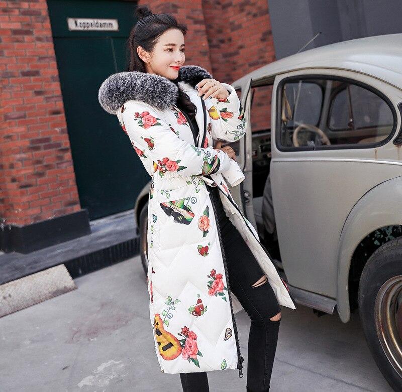 New winter women coat jacket 2018 casual Winter jacket for Women fur collar parkas female Slim