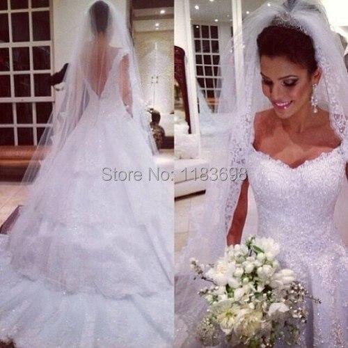 Свадебные платья Noivas Милая Белый Длина Пола Роскошные Свадебные Платья 2017 Sexy Backless Невесты Платье