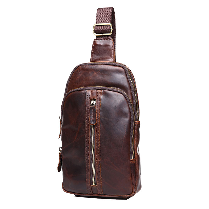 Genuine leather crossbody bags for men Travel Business Messenger Bags Crazy horse leather male Single Shoulder Strap Pack 2017