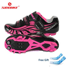 Sidebike Women Bicycle Shoes Outdoor Mtb Shoes Breathable Mountain Bike Bicycle Shoes Ciclismo Ultralight Mtb Cycling Shoes
