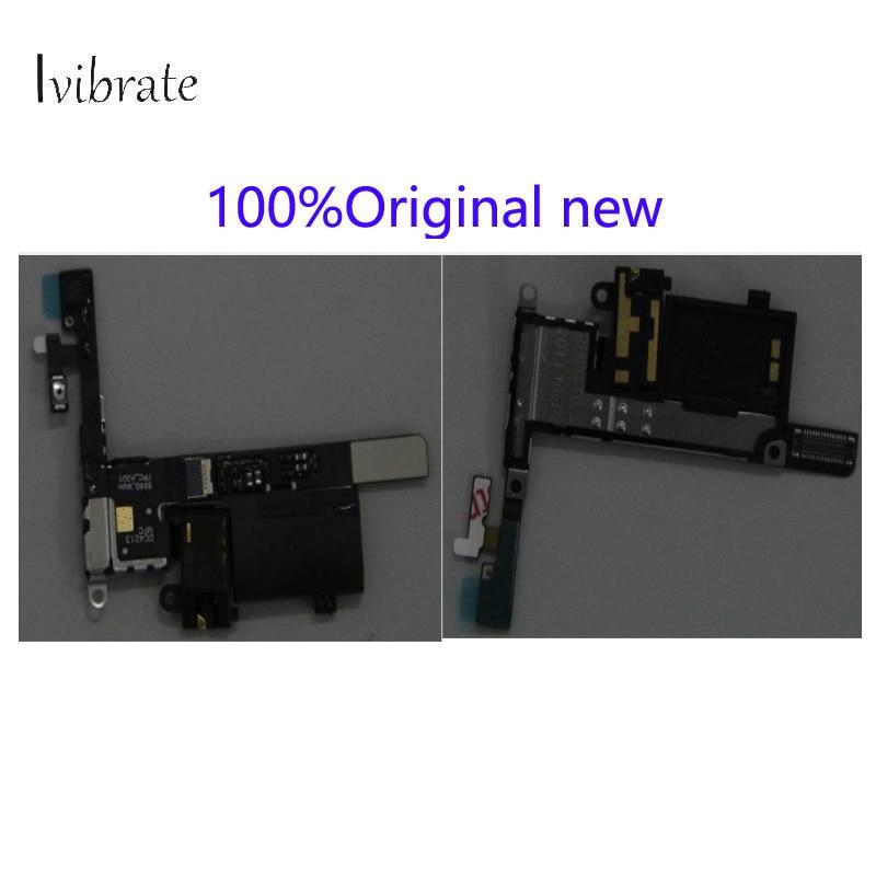 100%Original new For Lenovo S960 Power swtich earphone headset audio jack plug flex cable repair parts S 960 flex cable