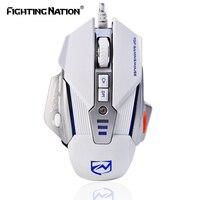 기계 디자인 게임 조명 매크로 마우스 USB 유선 3200 인치 당 점 8 버튼 백라이트 LED 컴퓨터 마우스 프로 게이