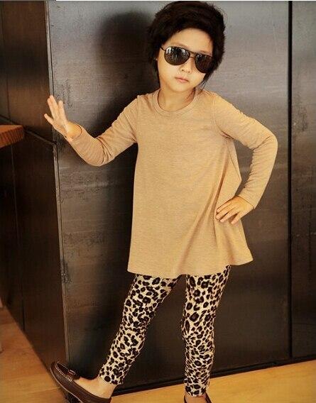a1c84a4d4 Niños moda Leopard imprimir niñas leggings Bebé fresco Girls leggings  Pantalones