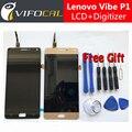 Para lenovo vibe p1 pantalla lcd + pantalla táctil de 100% nueva fhd 5.5 pulgadas digitalizador asamblea reemplazo para el teléfono móvil
