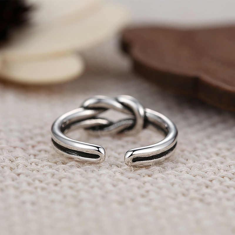 DINGLLY 925 VINTAGE เงิน Princess Crown แบรนด์แหวนสำหรับหญิงเปิดแหวนผู้หญิงแหวนแฟชั่นเครื่องประดับของขวัญ