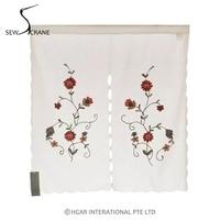 SewCrane Beautiful Flowers Embroidered Design Home Restaurant Door Curtain Noren Doorway Room Divider 33 4 X