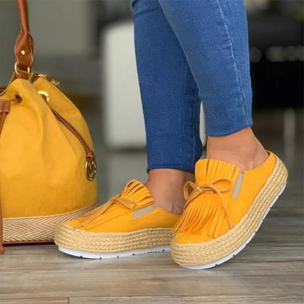 LASPERAL Women Vulcanize Shoes Canvas Sneakers Shoes Ladies Slip On Breathable Shallow Casual Loafers Plus With Bow