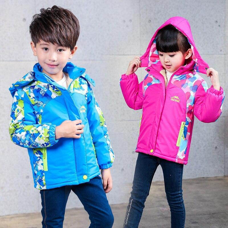 Зима путешествия ветровки осень девушки детей Повседневное с капюшоном Куртка из искусственной кожи PU унисекс для мальчиков открытый ...