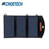 CHOETECH 19 W Banca Portatile di Energia solare Caricatore Del Telefono con Doppia USB Caricatore del Pannello Solare Batteria Esterna per iPhone Sumsang telefono