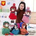 HWD Bonito 2016 Crianças mochila de pelúcia boneca sacos de presente para o bebê bonito bonecas menina jardim de infância bag-45cm