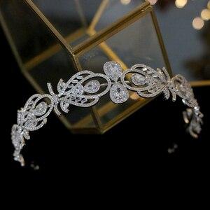 Image 2 - Bandeau daccessoires de cheveux de mariage de couronne de mariée de mode européenne de luxe avec bande de cheveux de bijoux féminins de zircone