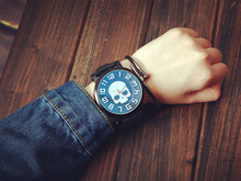 Halloween Skull Watches Men Luxury Brand Military Quartz Watch women Design Watch Men Sport leather Rubber clock montre homme