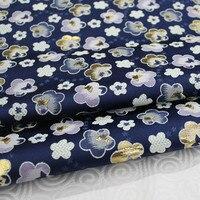 CF388 1 Yard Xanh Sakura Thổ Cẩm Jacquard Sườn Xám Lụa Vải Thổ Cẩm Cho Phụ Nữ Ăn Mặc Vải Cho May Mặc Đệm Gối Vải