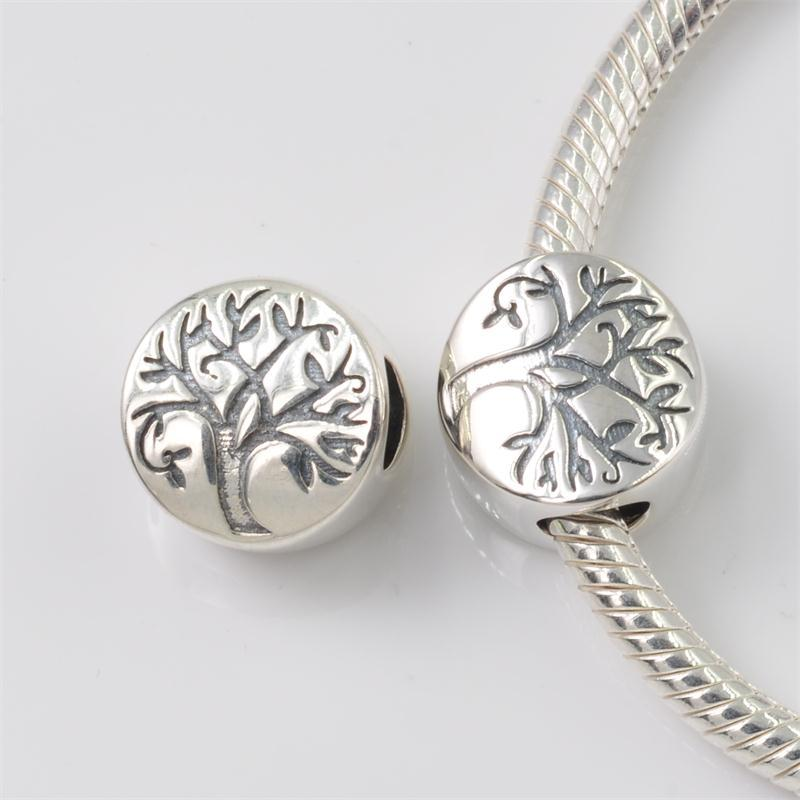 e50544af9c9ff US $13.55 |Fits Pandora Charms Bracelet Authentic 925 Sterling Silver Tree  of Life Charm Beads DIY Jewelry-in Beads from Jewelry & Accessories on ...