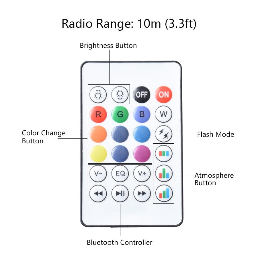 4 paquete E27 inteligente Bluetooth RGB lámpara de bulbo 7 W altavoz de la música colorido LED regulable bombilla remota luz de vacaciones fiesta - 2